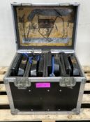 150w HMI Lights in Flightcase x4 Case dimensions L500xH430xW370mm.
