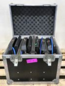 150w HMI Lights in Flight case x4 Case dimensions L500xH430xW370mm.