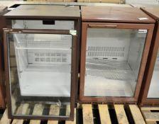 2x single door display fridges - 1 door need repair