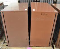 2x 2 door display fridges