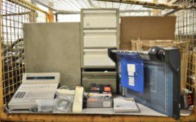 Office Equipment ID Printer, Epson WP 4095, Guillotine And Phone, Intellipenpro digital pe