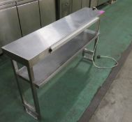 Heated shelving servery section