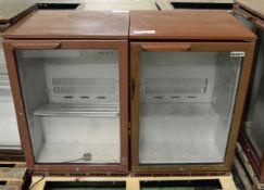 2x single door display fridges