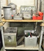 Field Kitchen set - cooker, oven, utensil set in carry box, norweigen food boxes, accessor