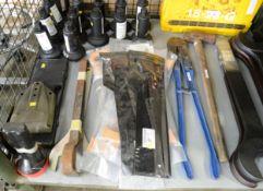 Tool Hand - Spanner, Bolt Cutter, Lever Tyre