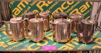 5x EPNS Large Coffee Pots, 3x EPNS Large Teapots