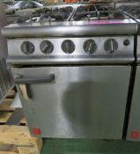 Falcon 4 burner cooker