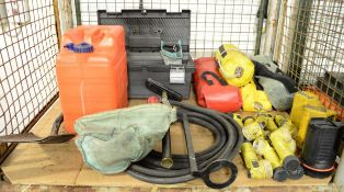 Various Domestic -Torches, Stirrip Pump, Tools, Fuel Can