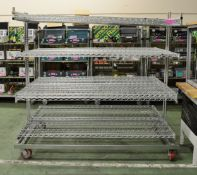Catering Double Wire Racking Mobile L1900 x W1230 x H1760mm