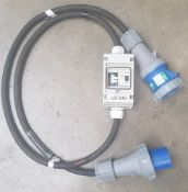 63amp 1 phase inline RCD