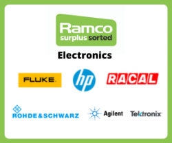 Ramco Electronics Auction - Brands Include - Marconi, Farnell, Fluke, Rohde & Schwarz, RACAL, Hewlett Packard, Tektronik, Agilent