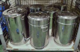 7x Stainless Steel Tea Urns