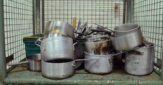 Various Pots & Pans with Lids