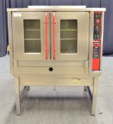 Bartlett Sabre Gas Convection Oven on Stainless Steel Unit- L1150 x W980 x H1450mm