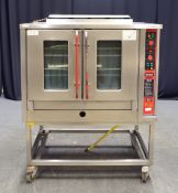 Bartlett Sabre Gas Convection Oven on Stainless Steel Trolley - L1150 x W1000 x H1460mm