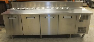 Epta Concept 4 Door Refrigerated Counter with 12 Serving Pots (Damage to Side Panel & Foot