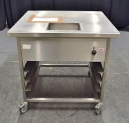 Stainless Steel Trolley with Heating Element and 4 Tier Rack - L980 x W900 x H900mm - Sing