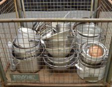 Assorted Stainless Steel Cooking Pans, Bowls & Frying Baskets