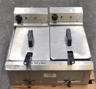 Stainless Steel Elecric Double Fryer - Single Phase