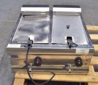 Lincat DF66 Twin Tank Twin Basket Countertop Electric Fryer - Single Phase