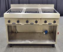 Triple Capic Hot Plates - 415v 3-Phase on Stainless Steel Unit - L1200 x W650 x H620mm
