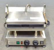 Velox Silesia GC-1 Single Contact Elecric Grill with Grease Drip Tray - 230v