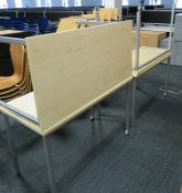 4x Portable Office Table. Dimensions: 1200x600x730mm (LxDxH)