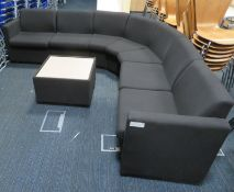 Waiting Room Corner Sofa With Coffee Table. Dimensions: 2000x2000mm (LxL)