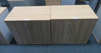 2x Office 2 Door Cupboard. Dimensions: 800x500x720mm (LxDxH)