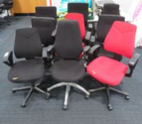 9x Various Office Swivel Chairs. Varying Condition.