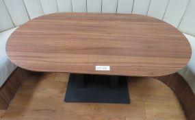 Oval Canteen Table. Dimensions: 1450x800x750mm (LxDxH)