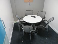 Meeting Room To Include Round Table And 5 Office Chairs.