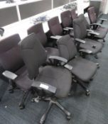 10x Kinnarps Office Swivel Chairs In Varying Condition.