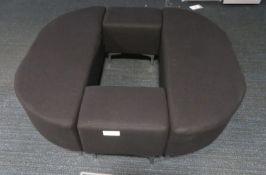Waiting Room Bench/Pillar Surround. Dimensions: 1300x1400x470mm (LxDxH) 4 Segments.