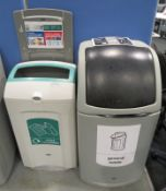 General Waste & Mixed Recyclable Waste Bins.