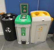 3x Recyclable Waste Bins.