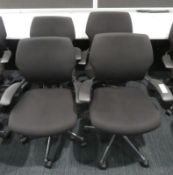 4x Humanscale Freedom Task Office Swivel Chairs. Varying Condition.