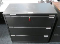 3 Drawer Office Filing Cupboard. Dimensions: 1000x470x1000mm (LxDxH)