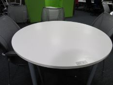 Round Table And 4 Office Chairs.