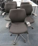 5x Humanscale Freedom Task Office Swivel Chairs. Varying Condition.