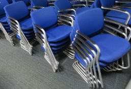 15x Blue Padded Office Chairs.
