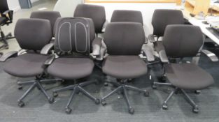 8x Humanscale Freedom Task Office Swivel Chairs. Varying Condition.