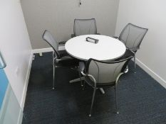Meeting Room To Include Round Table And 4 Office Chairs.