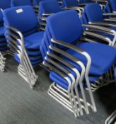 10x Blue Padded Office Chairs.