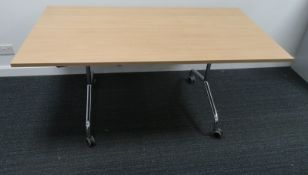 2x Tiltable Office Desk. This Is An Overview Picture And You Will Receive One In Similar Condition.