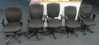 5x Various Office Swivel Chairs. Varying Condition.