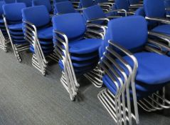 20x Blue Padded Office Chairs.