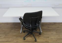 Tiltable Office Table & 1 Humanscale Freedom Office Chair. Dimensions: 1600x800x740mm