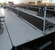 Bank Of Desks Seating 14. Dimensions: 9107x1800x745mm. (LxDxH)