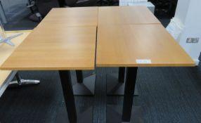 4x Tall Canteen/Coffee Shop Table. Dimensions: 600x600x1080mm (LxDxH)